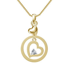 Valentine's Special In Free Shipping @ Lowest Price Heart Pendant Real Diamond