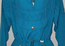 Nils Ski Jacket Parka 10 Womens MED Turquoise VINTAGE USA Hooded 1/4-Zip 6c2E