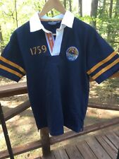 NEW Guinness Irish Beer Men's S Navy Blue Logo S/S Rugby Polo Shirt