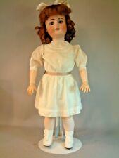 "23"" Antique German Dolly Sleep Eyes Original Body Display Ready Antique Whites"