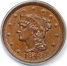 1848 N-20 R3- PCGS MS 64 BN CAC Braided Hair Large Cent Coin 1c