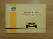 Volvo 142/144/145 Owners Handbook/Manual