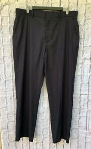 Perry Ellis Mens 36/32 Classic Fit Grey Trousers Business Corporate Work Suit