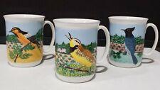 1983 Sara Barnes Block Spal Napa Valley Bird Mugs SET OF 3
