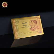 WR 2000 Thailand 100 Baht Gold Banknotes Anniversary Commemorative Banknotes