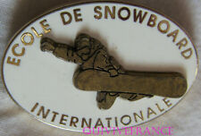 SK1638 - INSIGNE BADGE ECOLE DE SNOWBORD INTERNATIONALE