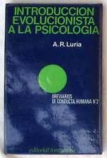 INTRODUCCIÓN EVOLUCIONISTA A LA PSICOLOGÍA - A. R. LURIA - ED. FONTANELLA 1980