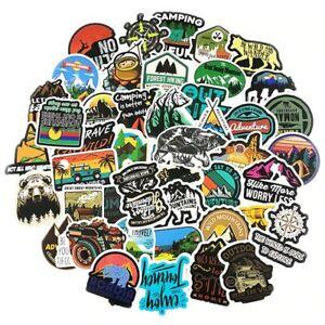 Adventure Camping Landscape Stickers - 50 Pcs