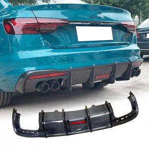 For Audi A4 Sline S4 RS4 B10 2020 Carbon Fiber Rear Bumper Diffuser Lip Spoiler