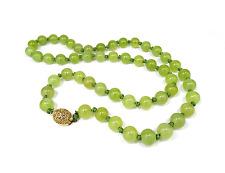 Alte Jade Kette Kette Collier 262,5 ct Yellow-Green Jadeite Necklace China  #5