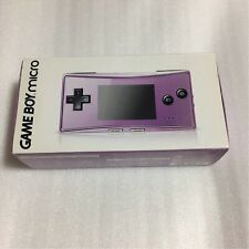 Nintendo Gameboy Micro Purple Console System Japan Very Good Condition