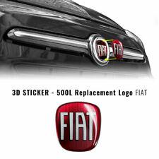 Adesivo Fiat 3D Ricambio Logo per 500L