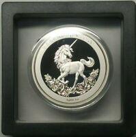 2019 China 1oz Silver Unicorn 25th Anniversary Restrike W/FLOATING FRAME DISPLAY