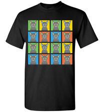 Russian Blue Cat Cartoon Pop-Art T-Shirt Tee, Men Women's Youth Tank Short Long