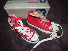 NIB VINTAGE CONVERSE SILVER BOX MADE IN KOREA SCARCE ALL STAR RED CHUCK TAYLOR 2