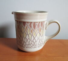 Denby Chantilly Creamer Brown Yellow Lace 8 oz England Fine Stoneware 3 5/8""