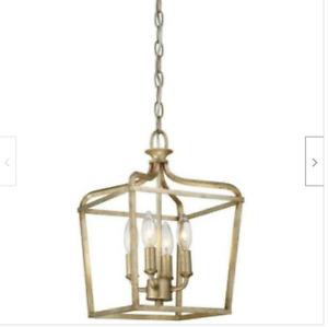 Laurel Estate 4-Light Pendant in Brio Gold Minka Lavery