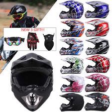 Dot Adult Youth Helmet Kids Motorcycle Full Face Offroad Dirt Bike Atv S M L Xl