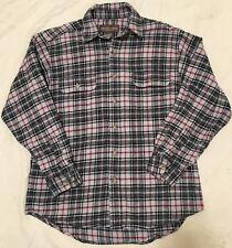 Moose Creek Men's Heavy Red Black Plaid Flannel L/S Button Work Shirt Sz Large
