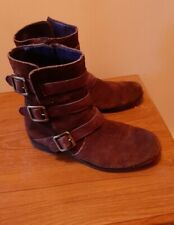 Clarks Brown Ankle Boots Size 4