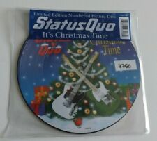 "STATUS QUO IT'S CHRISTMAS TIME 7"" VINYL PICTURE DISC 2008 NUMBERED"