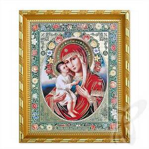 Icon GM Zhirovizkaja wood 21x18 Жировицкая Богородица икона
