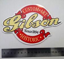 GIBSON Custom art Since 1894 plastic logo badge white color 180 mm - 7,1''