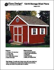 12' x 10' Gable Storage Shed Project Plans - Design #21210