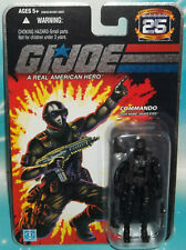 G I GI JOE 25TH ANNIVERSARY NINJA COMMANDO SNAKE EYES FIRST VERSION FIGURE MOC