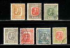 Iceland stamps Set # 99 - 107.  Mint & Used, CV $100