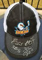 San Diego Gulls hockey Hat Cap with Autographs