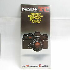 Used Konica TC Autoreflex Camera Folded Booklet/ Specifications Guide S211104