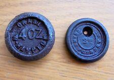 2 Antique Crane Foundry Wolverhampton Weights