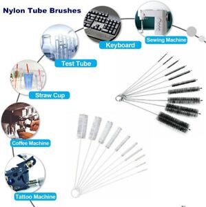 Nylon Cleaning Brushes For Tubes Drinking Straws Glasses Keyboards Jewelry UK