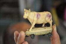 Vintage Fine Colorful Cow Celluloid Figurine , Japan