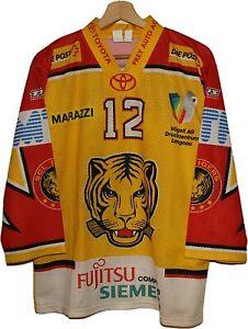 #12 TOD ELIK SCL TIGRES ICE HOCKEY Jersey Shirt size S TRICOT SWITZERLAND