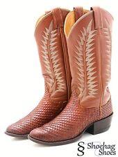 Tony Lama Anaconda Mens Cowboy Boots 6.5 Vintage Exotic Snakeskin Leather