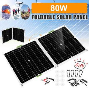 12V 80W Solarpanel Solarmodul Ladegerät Kit Für Wohnwagen/Camping/Zuhause USB