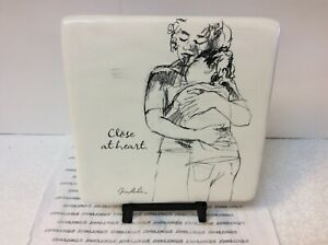 """HALLMARK KEN SHELDON """"Close at Heart"""" New With Tag CERAMIC TILE Mom and Daughter"""