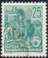 DDR 1953, MiNr. 415 YII, gestempelt, gepr. Mayer, Mi. 300,-