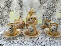 Antique Royal Vienna Style Porcelain Tea Coffee Set