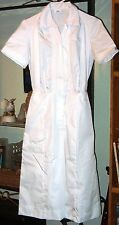 SALE - size  6 NEW Womens  Nurse  scrub  Dress / waitress uniform  White Cotton