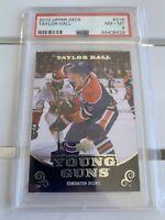 2010-11 Upper Deck Series 1 #219 Taylor Hall EDM Young Guns RC Rookie Card PSA 8
