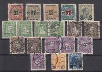 BG5871/ DENMARK – 1918 / 1926 USED SEMI MODERN LOT – CV 170 $
