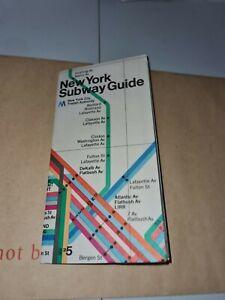 New York Transport Map Leaflet Subway Guide BQ2.8