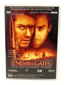 Enemy At The Gates (DVD, 2001) Jude Law Region 4 Free Postage