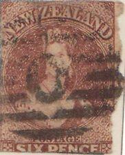 (NZL-2) 1862 NZ 6d brown CHALON