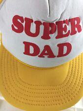 Super Dad Snapback Trucker Hat Mesh Pinwheel Vintage