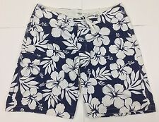 Old Navy Mens XL Floral Swimming Shorts Trunks Navy Blue And White Floral