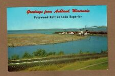 Greetings from Ashland,WI Wisconsin, Pulpwood Raft on Lake Superior